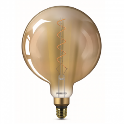 Philips 8718696768082 Vintage LED Giants ND G200 5-25W E27 Gold Flame