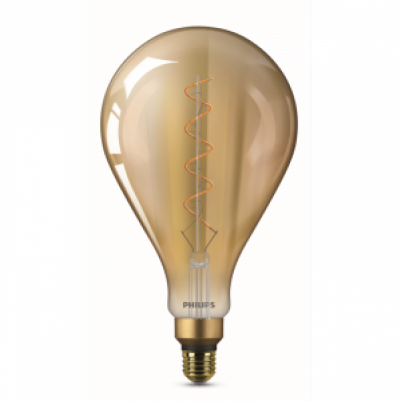 Philips 8718696768068 Vintage LED Filament Giants ND A160 5-25W E27 Gold Flame