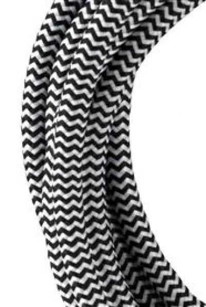 Bailey 139752 Textielsnoer Zwart/ wit 3X0.75mm² 3 meter