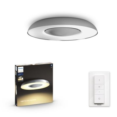 Philips 3261348P6 Hue Still Plafondlamp Aluminium White Ambiance inclusief DIM Switch