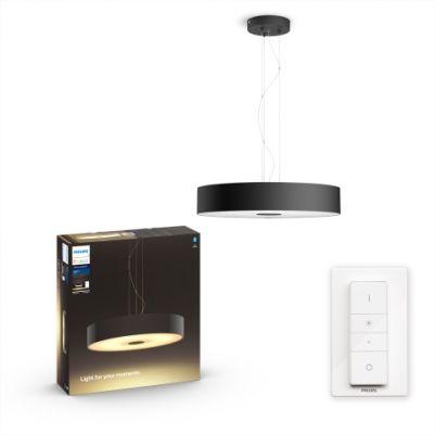 Philips 4033930P6 Hue Fair hanglamp Zwart White Ambiance inclusief DIM Switch