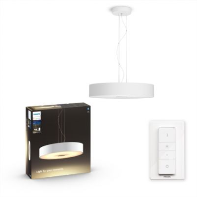 Philips 4033931P6 Hue Fair hanglamp Wit White Ambiance inclusief DIM Switch