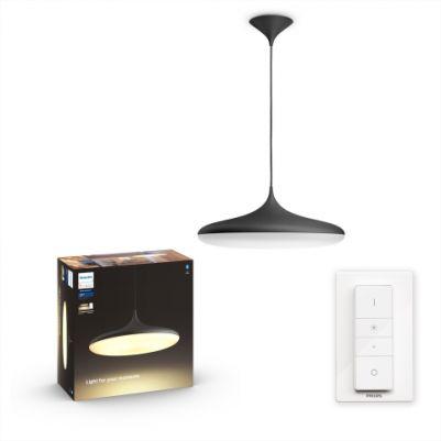 Philips 4076130P6 Hue Cher hanglamp Zwart White Ambiance inclusief DIM Switch