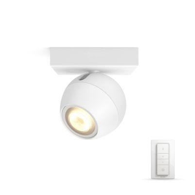 Philips 5047131P6 Hue Buckram single spot Wit White Ambiance Inclusief Dimmer Switch