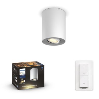 Philips 5633031P6 Hue Pillar Spot White Ambiance wit inclusief DIM Switch