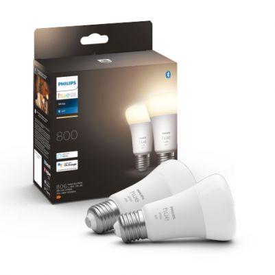 Philips 929001821623 Hue White 9W 800 lumen E27 (duopack)