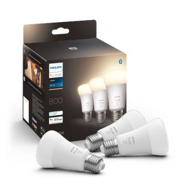 Philips 929001821627 Hue White 9W 800 lumen E27 (3-pack)