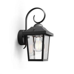 Philips 1723630PN Buzzard wand lantaarn zwart 1x60W 230V