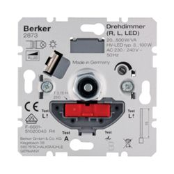 Berker 2873 Draaidimmer LED-draaidimmer 3-100 W (LED, R, L) met soft-klik