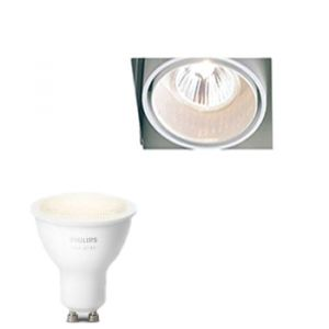 Trimless Inbouwspot Delta Light inclusief Hue White (GU10) Wit